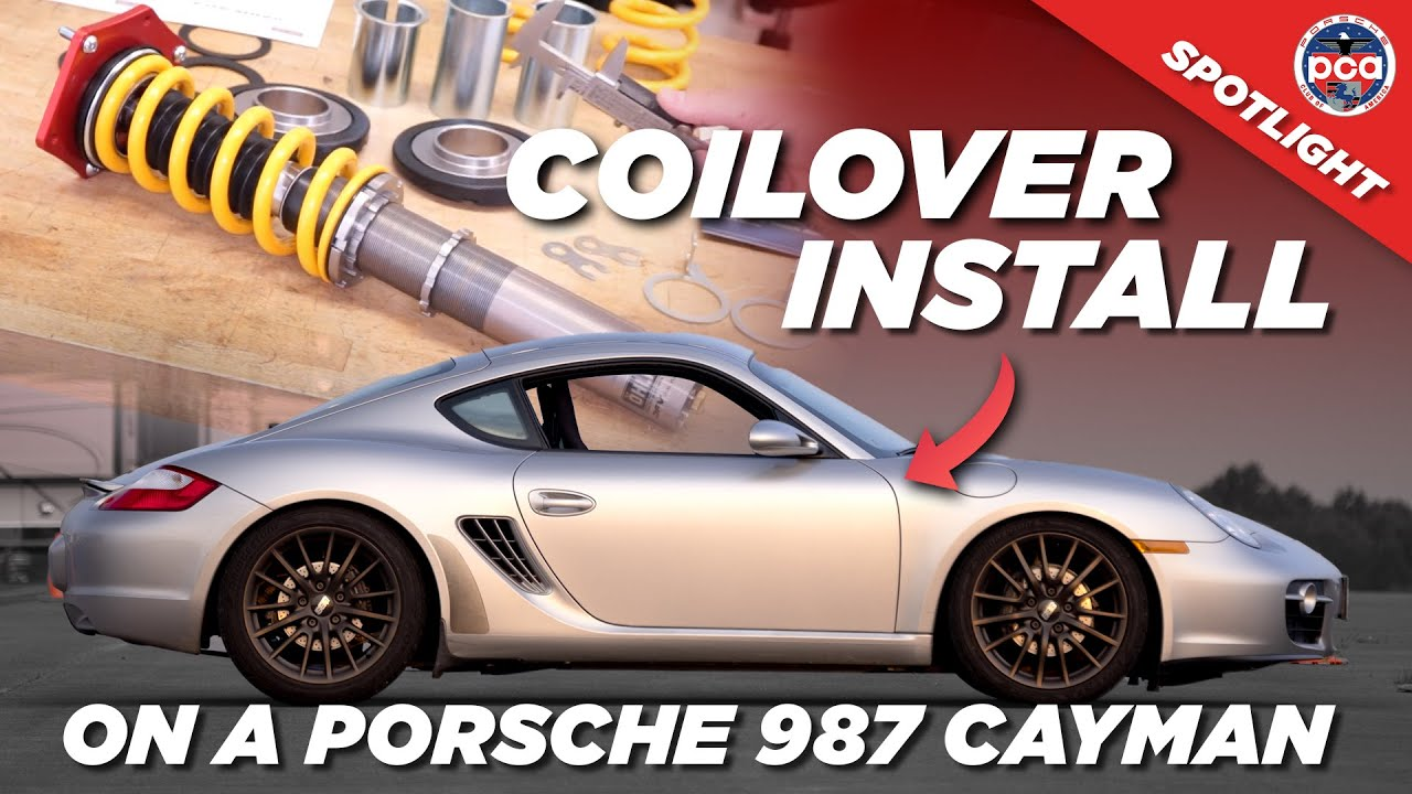 Video: How to install coilovers on a Porsche 987 Cayman | PCA Spotlight