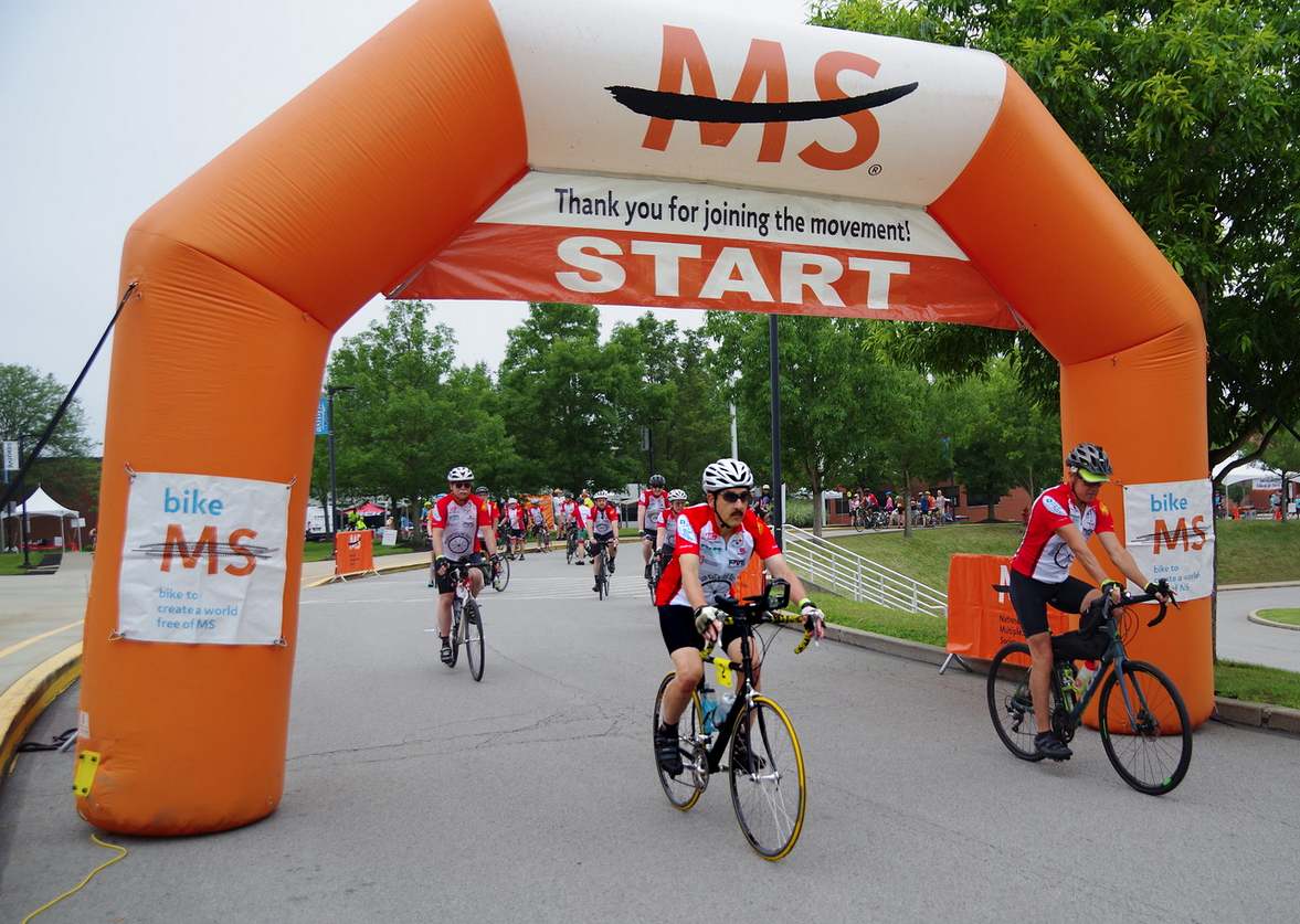 photo of Forest Hills man cycling for MS Society fundraising milestone after serious crash image